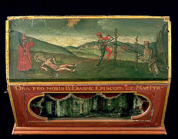 Reliquaire : Martyre de saint Erasme, de saint Erasme
