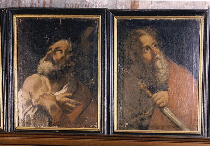 Ensemble de 12 tableaux d'apôtres