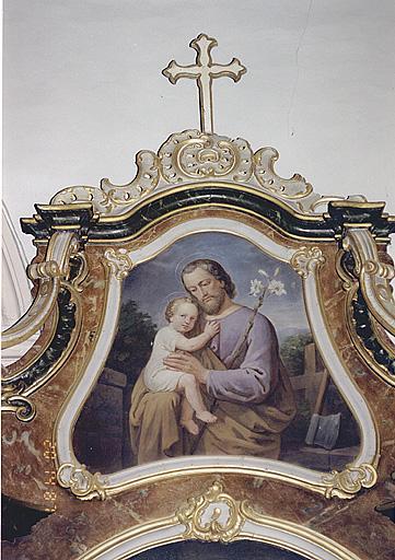 Ensemble de deux tableaux d'autel
