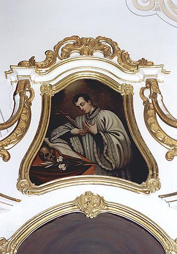 Ensemble de 2 tableaux des autels-retables secondaires