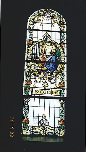 Verrière : sainte Cécile