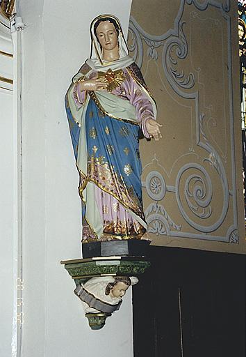 statue : Sacré-Coeur de la Vierge