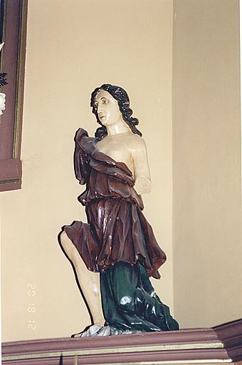 Ensemble de deux statues : anges