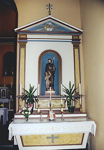 autel-retable secondaire, statue