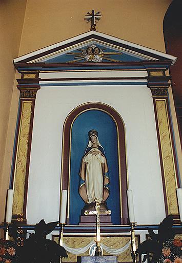 retable de l'autel secondaire, statue