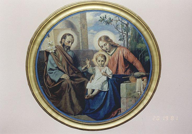 Peinture monumentale : Sainte Famille