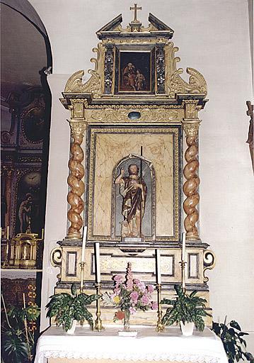 ensemble de 2 autels-retables secondaires