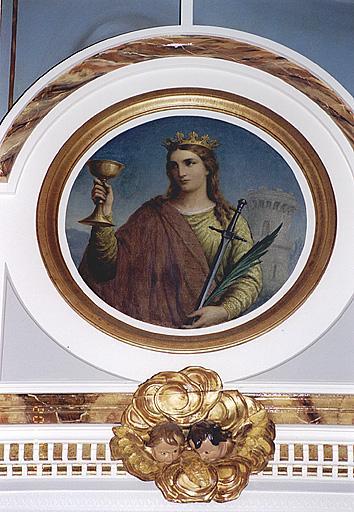ensemble de 4 tableaux des autels-retables secondaires