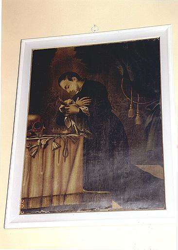 Ensemble de deux tableaux : saint Louis de Gonzague, saint François-Xavier