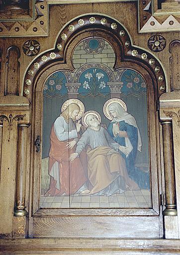 ensemble de deux autels-retables secondaires