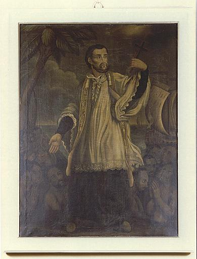 Ensemble de deux tableaux : saint Louis de Gonzague, saint François-Xavier