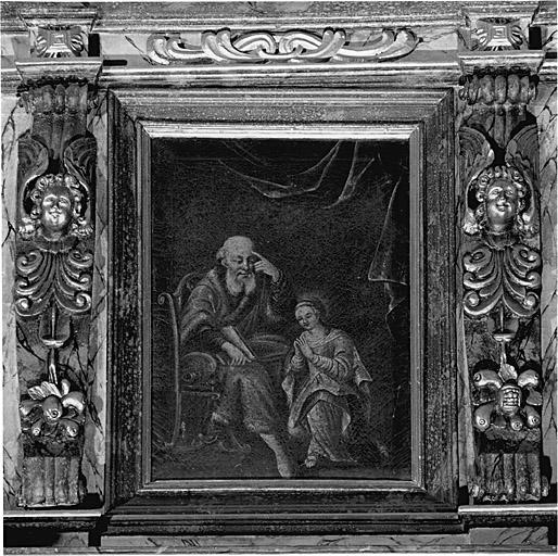 Ensemble de 2 tableaux d'autel