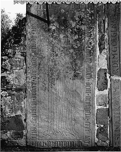 Dalle funéraire de Eilse Steinlin