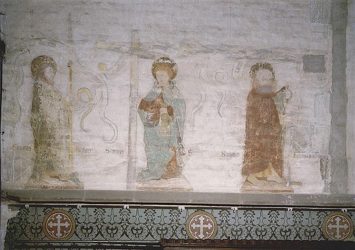 Peintures monumentales : Pères de l'Eglise, apôtres