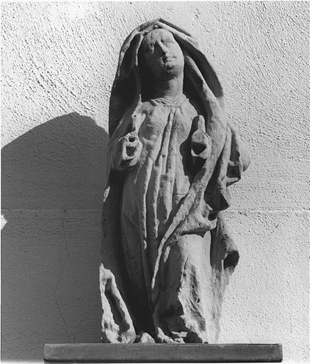 Ensemble de deux statues : Vierge de douleur, saint Jean l'Evangéliste