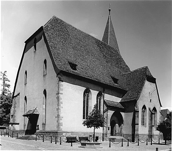 Eglise paroissiale Saint-Jean actuellement temple