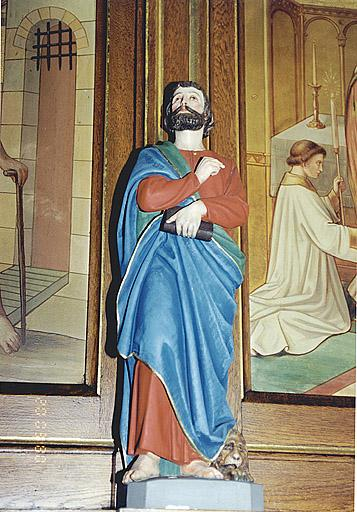 statuette : l'Evangéliste Marc
