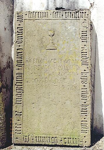 Dalle funéraire de Rudolf Kips