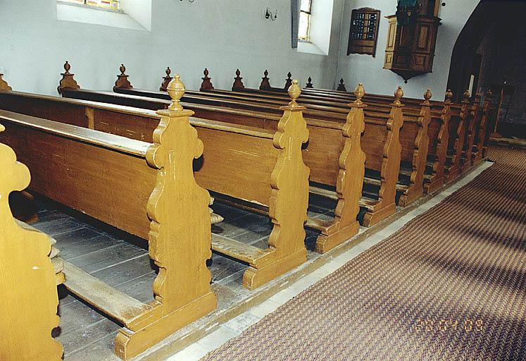le mobilier de l'église paroissiale Saint-Martin, actuellement temple (liste supplémentaire)