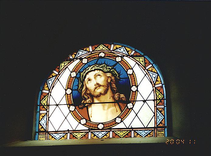 Verrière : Christ couronné d'épines