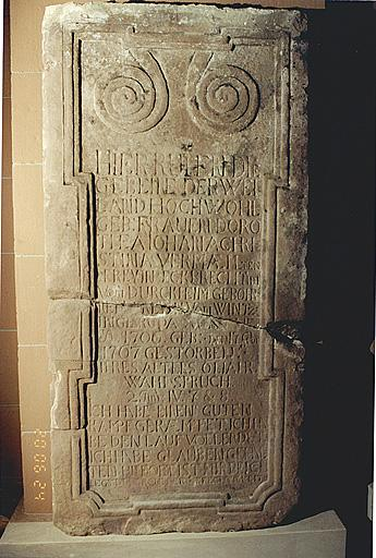 dalle funéraire de Dorothée Jeanne Christine Eckbrecht de Durckheim