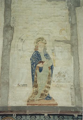 Peintures monumentales : Pères de l'église, apôtres