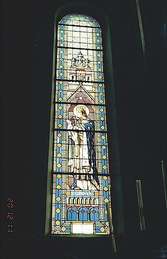 verrière : saint Louis.
