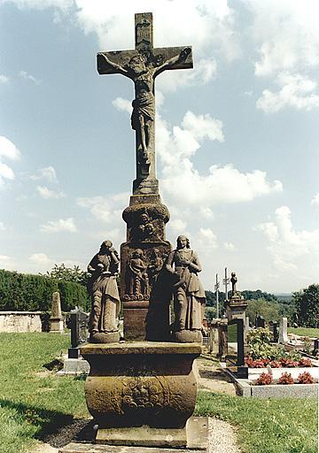calvaire : Crucifixion avec saint Jean et sainte Madeleine