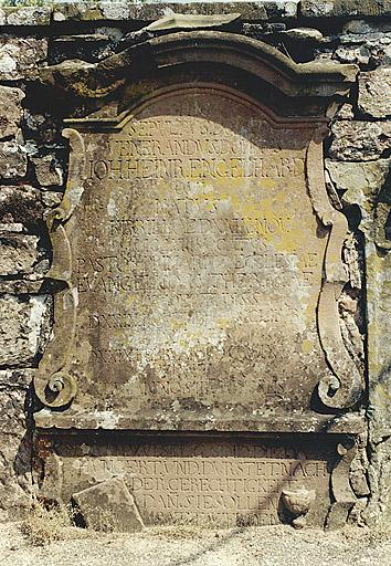 Tombeau du pasteur Johann Heinrich Engelhard