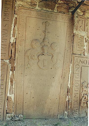 Dalle funéraire de Johan von Buttler