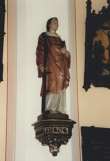 Statue : saint Laurent martyr