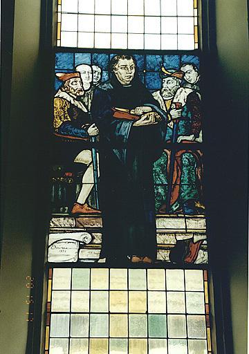 Verrière : M. Luther