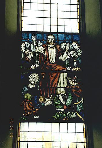 Verrière : Christ bénissant
