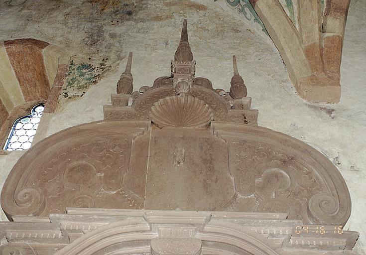 Plaque funéraire de J. F. von Rathsamhausem zum Stein