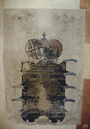 Plaque funéraire de F. B. von Sandersleben-Coligny