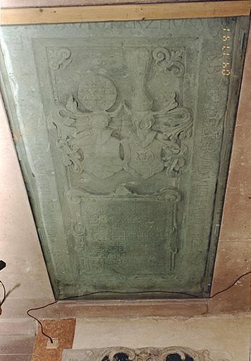 Dalle funéraire de A. von Truchsess von Rheinfelden