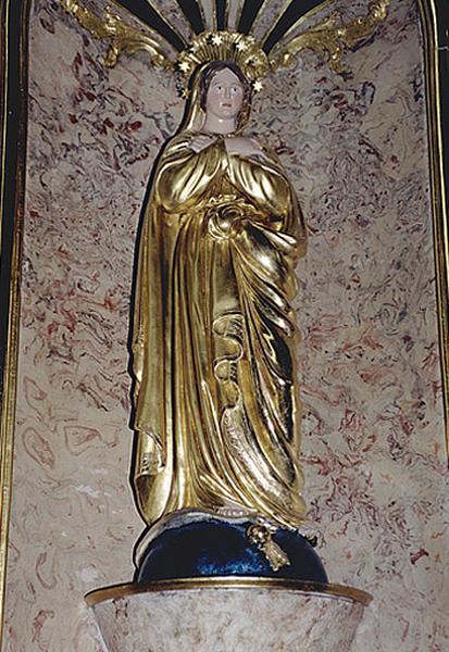 statue de procession : Immaculée Conception (ensemble des autels secondaires)