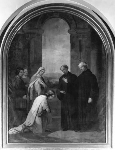 Tableau : Saint Morand recevant le comte de Ferrette
