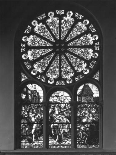 Verrière : Jeanne d'Arc entrant à Orléans