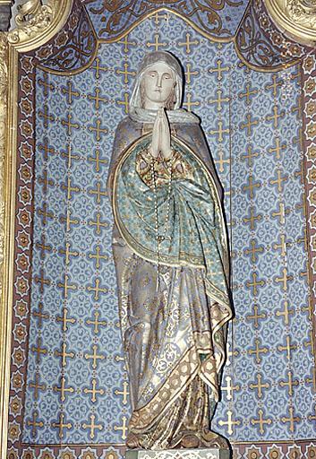 2 statues : Vierge, Saint Joseph