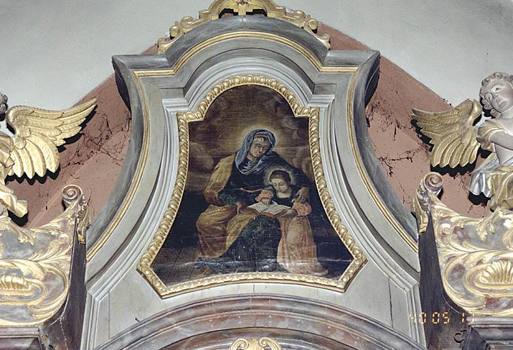 2 tableaux d'autel : Education de la Vierge, sacrés coeur de Jésus, Sacré-Coeur de la Vierge
