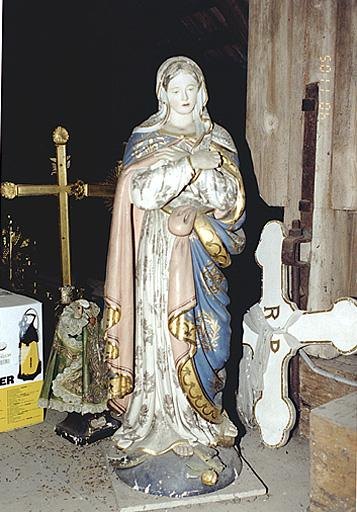 statue de procession : Immaculée Conception