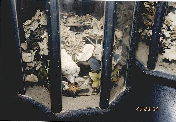 ensemble de 4 couronnes mortuaires