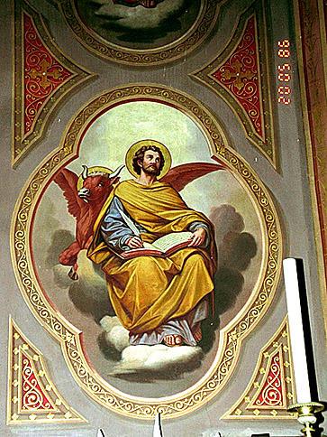 peintures monumentales : Saint Nicolas, Evangélistes, saint Jacques, saint Pierre