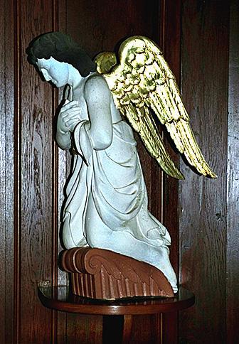 tabernacle, ensemble de 2 statues du maître-autel