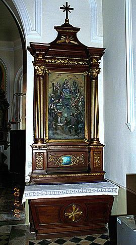 AUTELS(2);RETABLES(2);TABLEAUX(2) : ensemble des autels secondaires