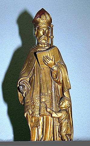 ensemble de 4 statues : Docteurs de l'Eglise