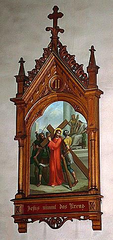 CHEMIN DE CROIX : ensemble du mobilier d'église