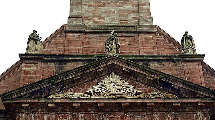 3 statues : Vertus théologales