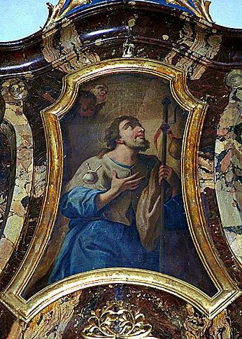 2 tableaux d'autel : Sainte Marguerite, saint Jacques le Majeur